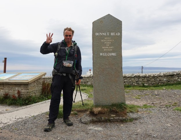 Three Points of the Compass reached Dunnet Head, the most northerly point on mainland Great Britain on 28th August 2018