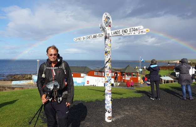 Three Points of the Compass reached John o'Groats on 29th August 2018. Having left Lands End on the 30th April, 31 days after I had set off from Poole