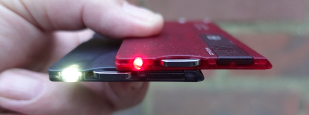 Red and white LED variants of the Victorinox SwissCard Lite