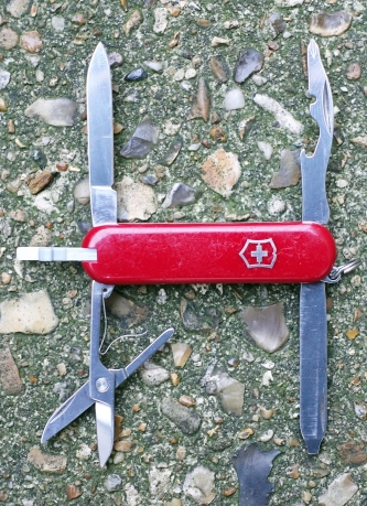 The 58mm long Rambler from Victorinox contains most of the tools that any hiker is likely to require on trail