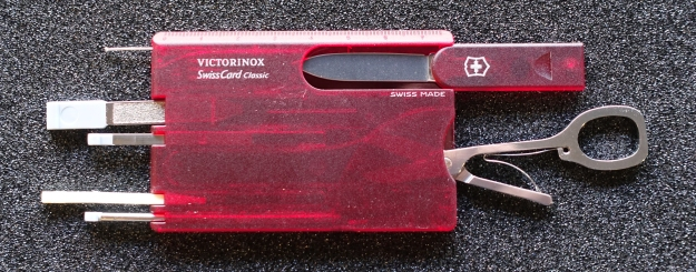 The Victorinox Signature carries a similar toolset to the very different SwissCard produced by the same company