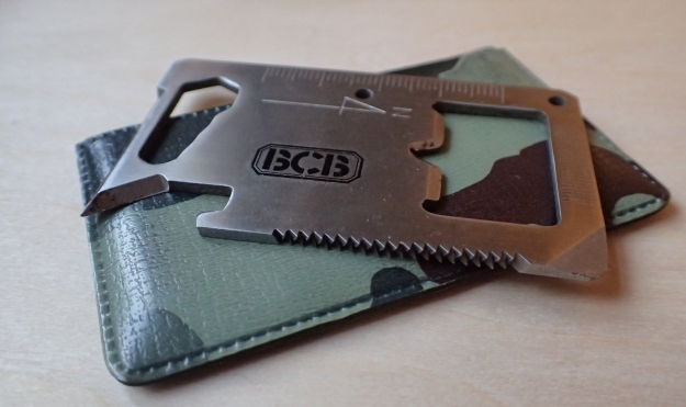 Stainless steel pocket tool from BCB. This probably dates from the 1990s and is a better credit card sized tool than the cheaper copies that followed
