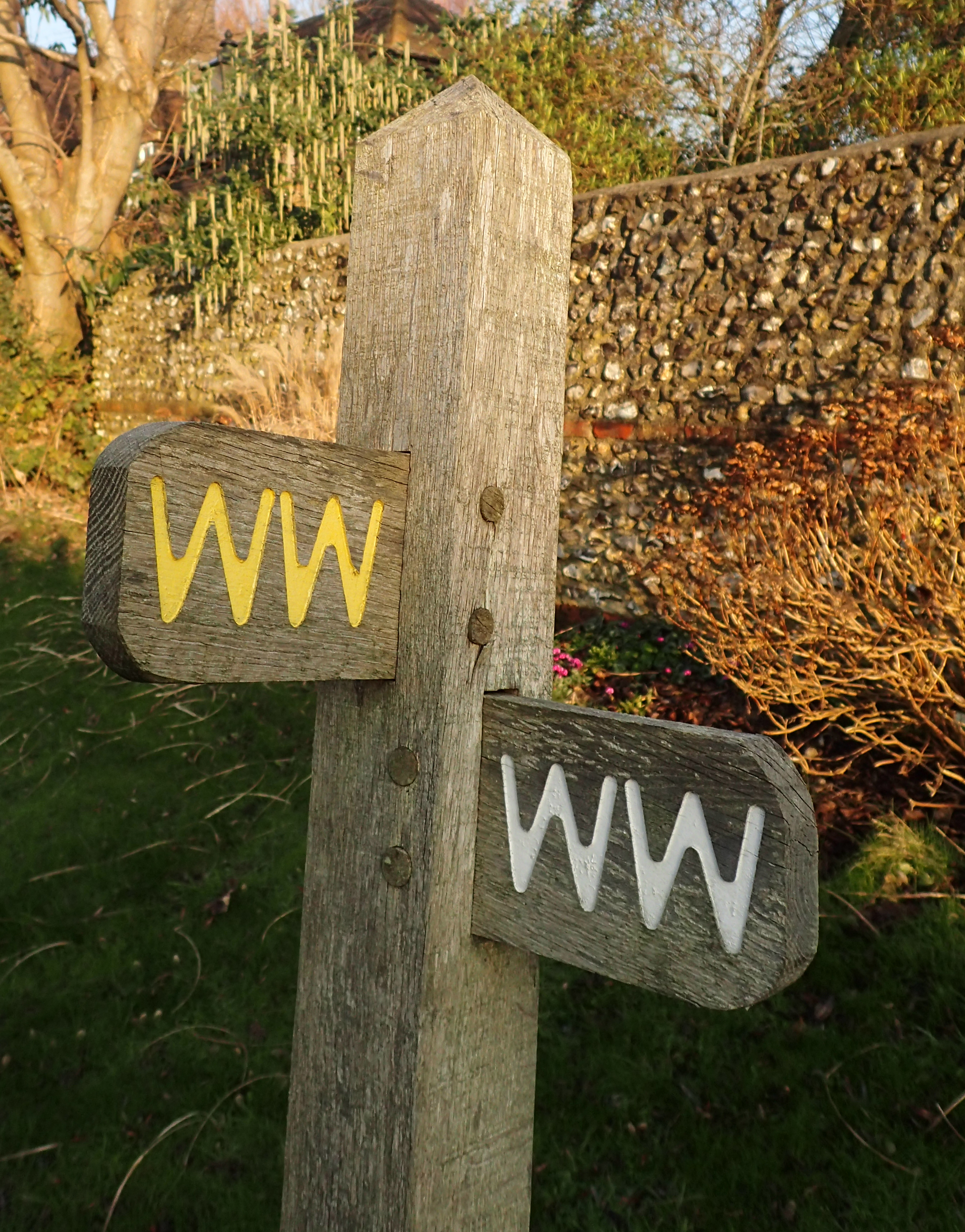 Some 99% of the Wealdway has excellent signposting