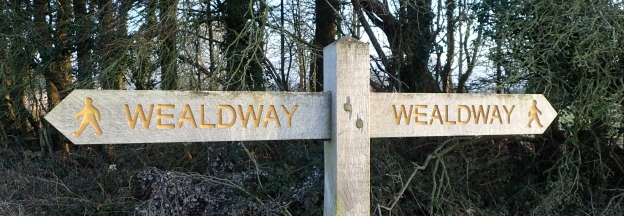 Signposting of The Wealdway is good throughout its eighty plus miles