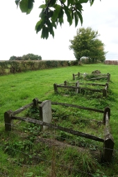 Horses graveyard near East Hoathly. The nearest headstone carries the musings of a proud owner- '13 races, 13 wins'