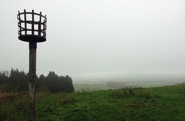 Beacon Hill on the South Downs Way. The mist barely cleared on my first day on trail