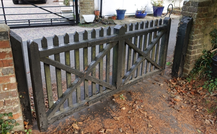 The tapsel gate at Pyecombe church is opened by one of the famous shepherds' Pyecombe Hooks. These were made for around 200 years