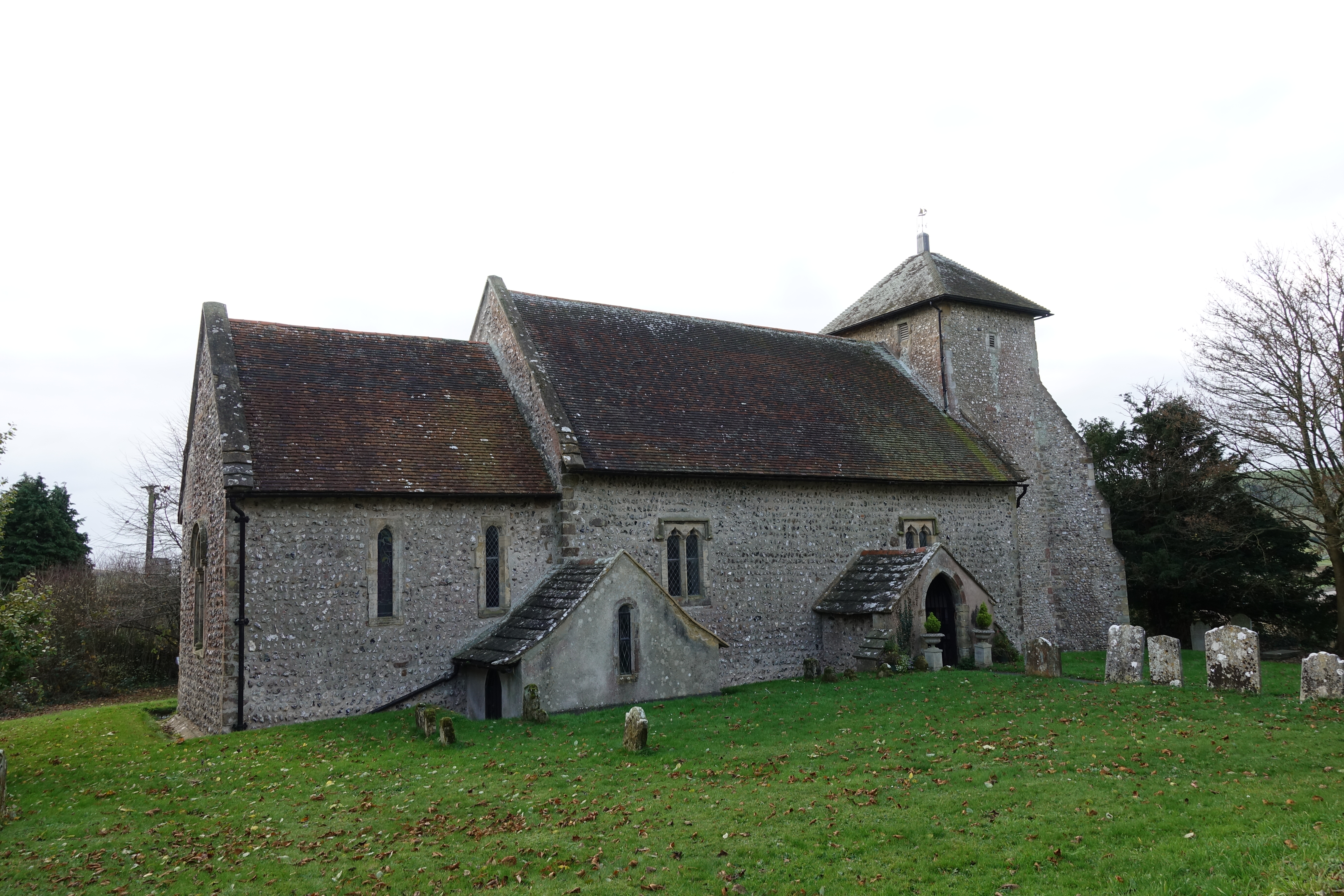 The Norman built Shepherds' Church, Pyecombe