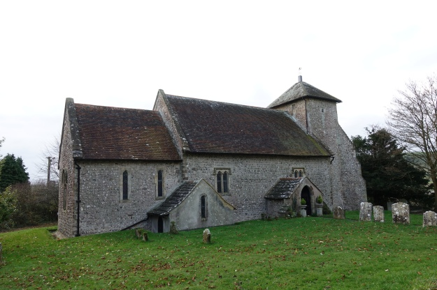 The Norman built Shepherds' Church, Pyecombe