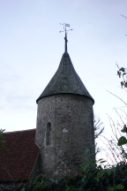 The uncommon circular tower at Southease church