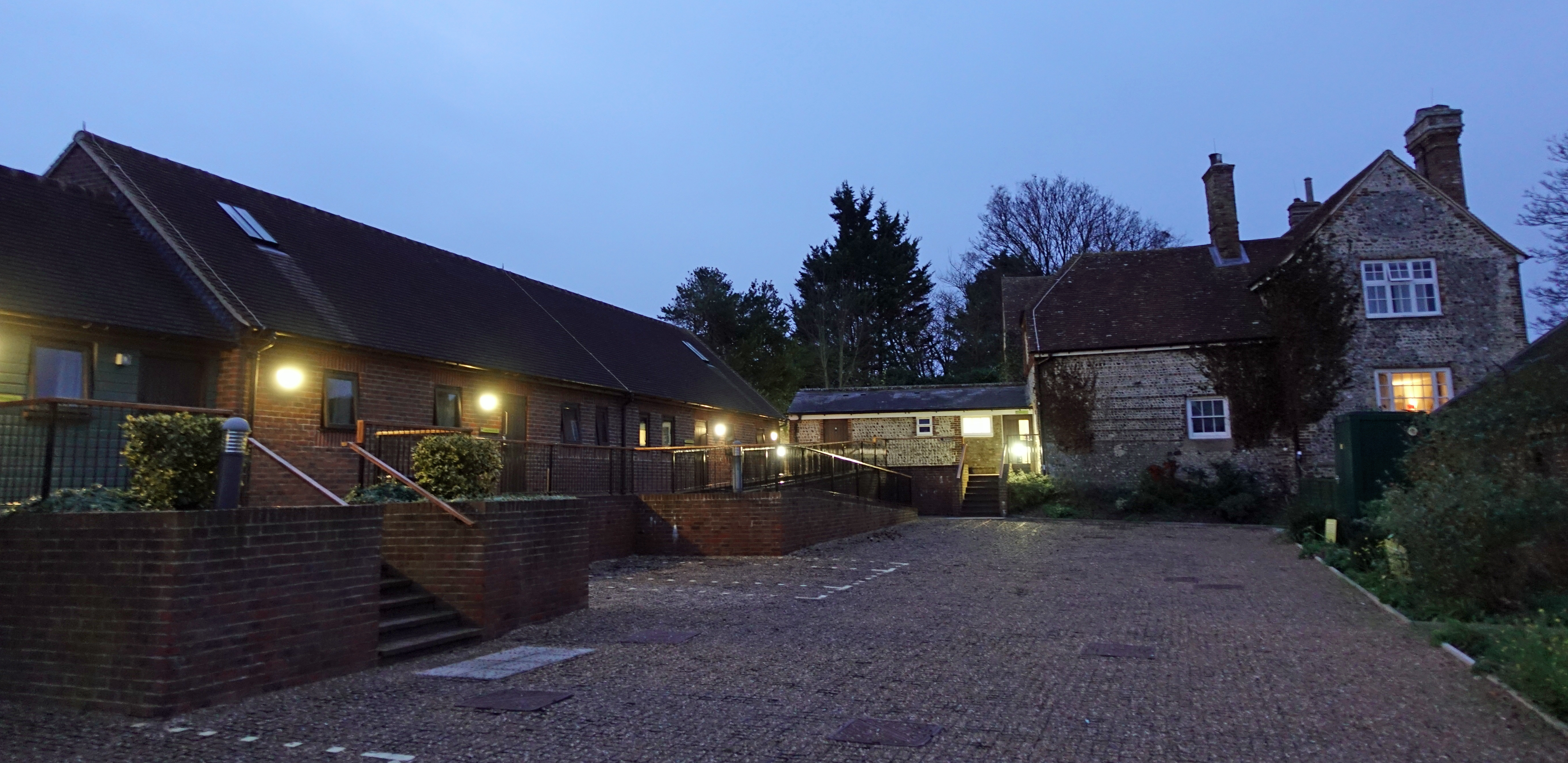 Accommodation buildings at YHA South Downs