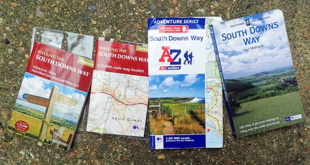 There are a lot of guides and maps for the South Downs Way. Despite being well-waymarked, it makes sense to carry a map and a guide book can only add to the enjoyment of the walk. I carried the Cicerone guide book, but left the Cicerone map booklet at home, preffeirng to take the A-Z Adventure Series that contains good 1:25 000 O.S. mapping with a wider coverage than the Cicerone version