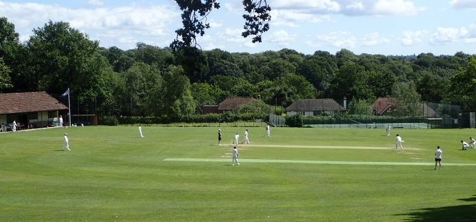 Taking time out for the crack of leather on willow- A cricket match at Bidborough