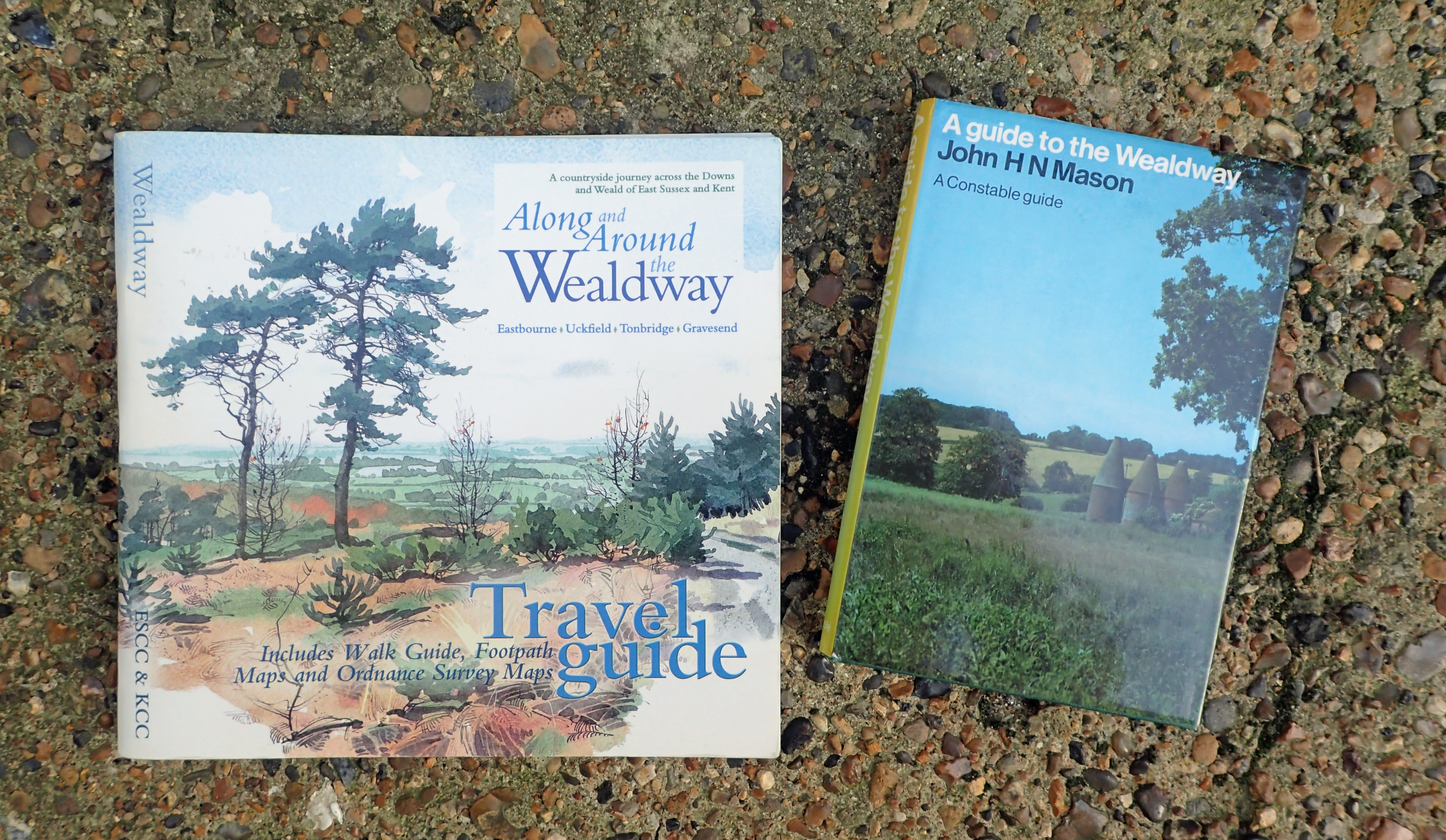 There are only two guides of any note that cover the Wealdway, both are now pretty old and out of date in aprts. However they both provide a wealth of background information on the sites to be seen, the geography and history of the diverse route are well covered