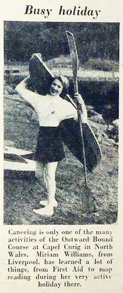 Outdoor activities with the Outward Bound, 1956