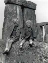 My brother John and sister Jen on family holiday to Stonehenge in the 1960s