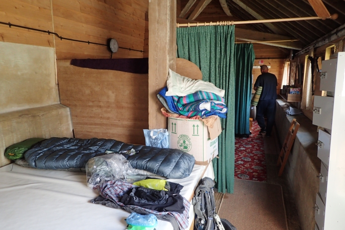 Simple overnight accommodation at the Ec-camping barn, Puttenham