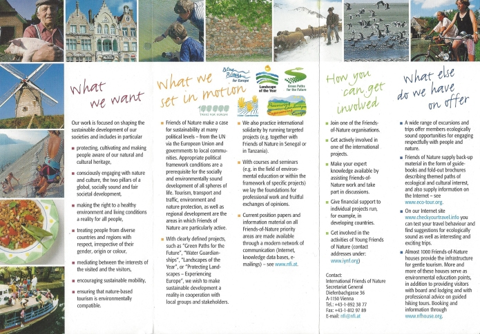English language leaflet, 2012