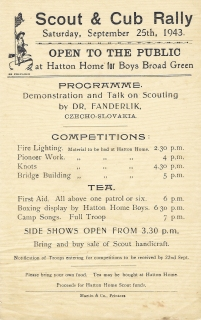 Advertisement for Scout and Cub rally, 1943