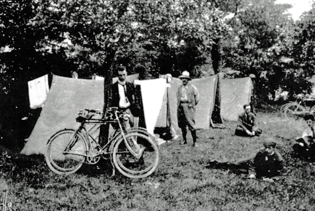 The first ever camp of the Association of Cycle Campers