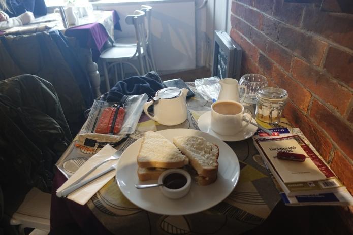 Second breakfast in the Singing Kettle Tearoom in Alfriston
