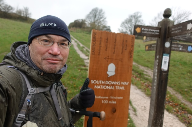 Three Points of the Compass walked the South Downs Way in November 2018