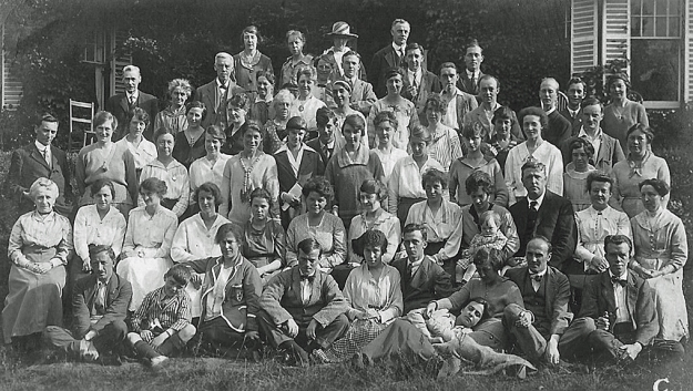 Holiday Fellowship holidaymakers at the St. Edmunds School, Hindhead, Surrey