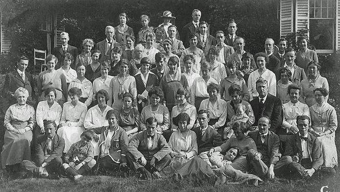 Holiday Fellowship holidaymakers at the St. Edmunds School, Hindhead, Surrey