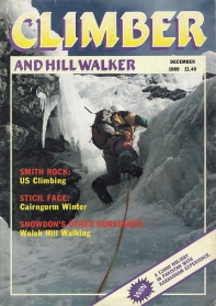 Climber and Hill walker, December 1989. Cover- Tackling the final pitch of Orion Face Direct, Ben Nevis