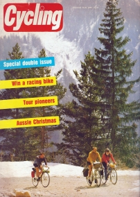 Cycling December 1985. Cover 'summer snow on a continental tour'