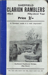 Sheffield Clarion Ramblers, 1953-4