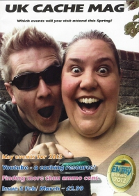 UK Cache Mag. February-March 2013. Cover- first cache for Team Bear Magic