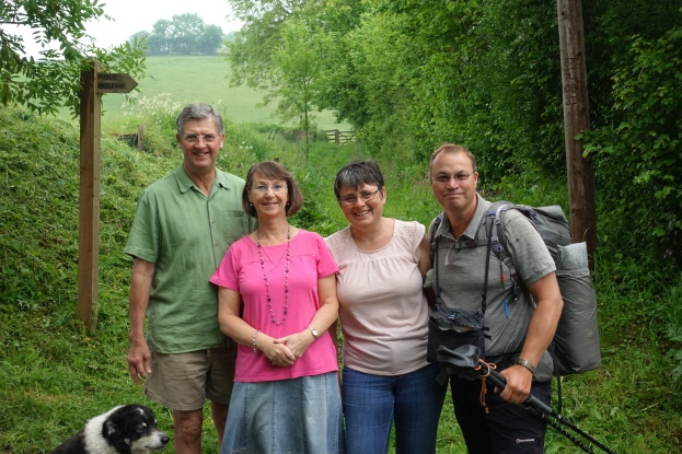 Colin, Annette, Louise and myself prior to my setting back off on trail