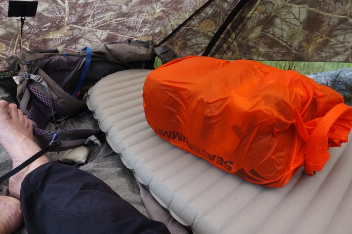 Possibly the only piece of gear that I had selected for my hike that properly failed was a bespoke pack liner that I had commissioned. It simply wasn't up to handling the deluges in Scotland and at Fort William I swapped out to a heavier but watertight Sea to Summit roll top liner