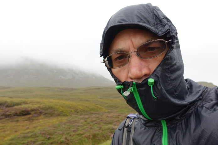 Three Points of the Compass has been a fan of the Montane Lite-Speed wind jacket for many years of hiking. The intense winds crossing the Kylesku bridge ripped out the sticthing in the back of the neck