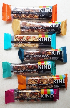 Just a few of the varieties of Kind bar available