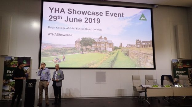 Centre and right are YHA Chief Executive James Blake and outgoing YHA Chair Peter Gaines