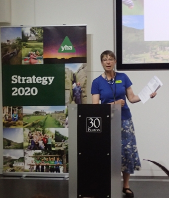Appointed Vice Chair in 2017, Margaret Hart today became the first female Chair of the YHA