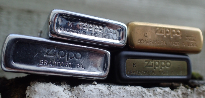 most zippos can be dated by deciphering the code stamped on the case