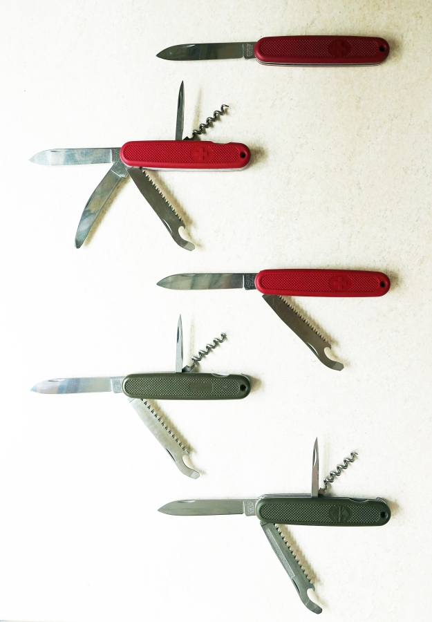 Some of the interesting ranger of 108mm knives from Victorinox