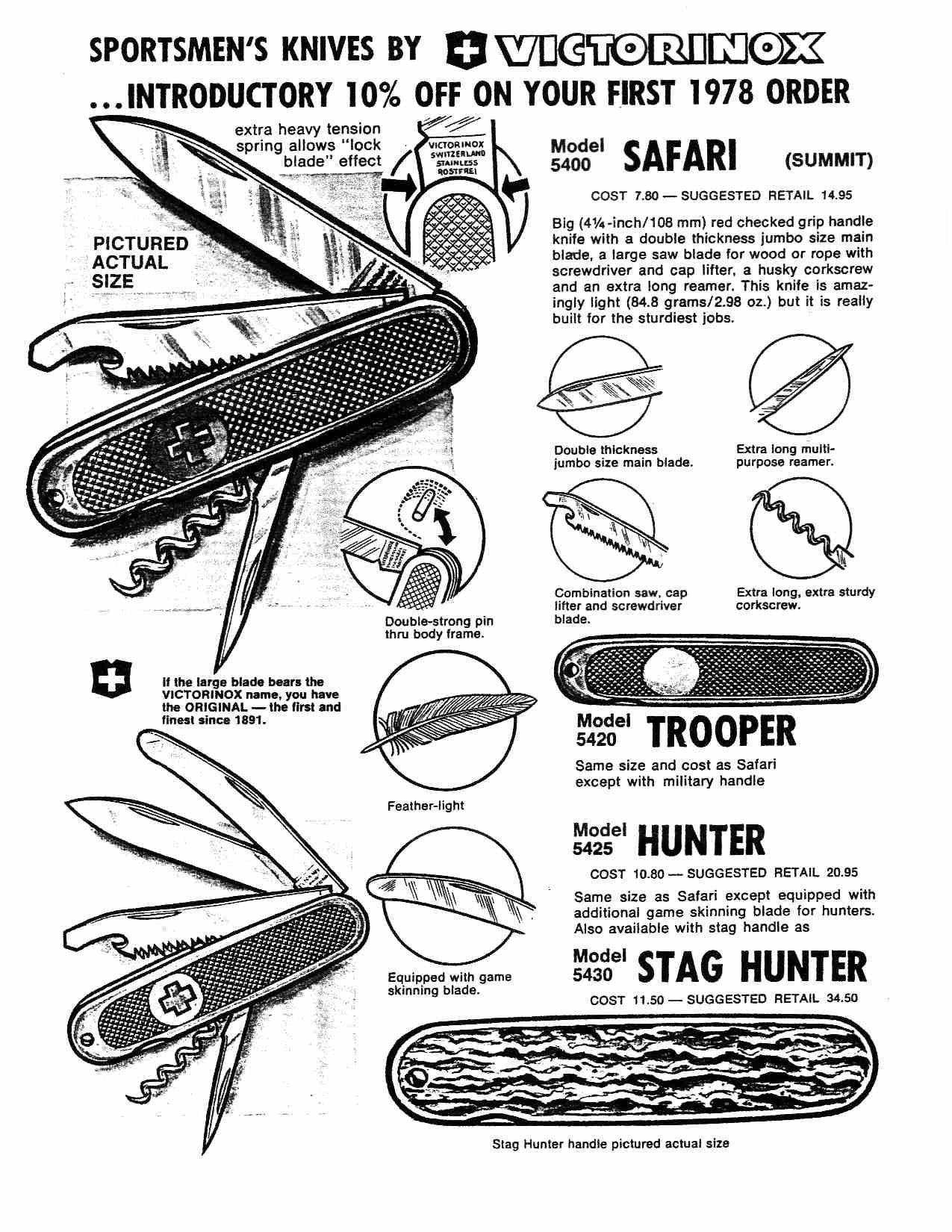 1978 safari trooper poster, also showing the stag handled model