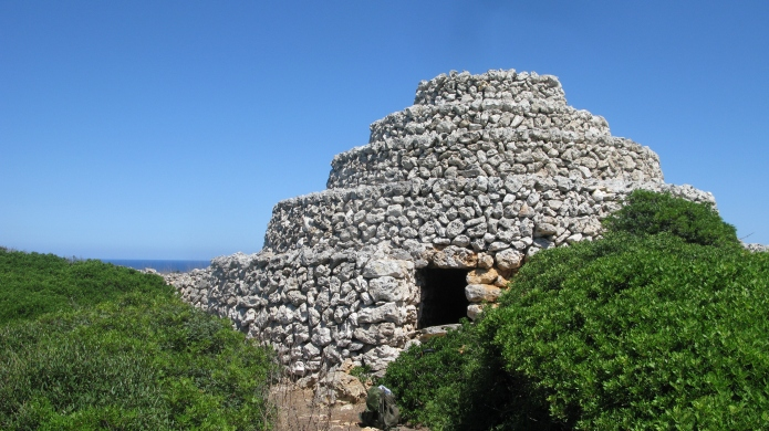 19th century Barraca de bestiar. A tiered stone shelter for animals