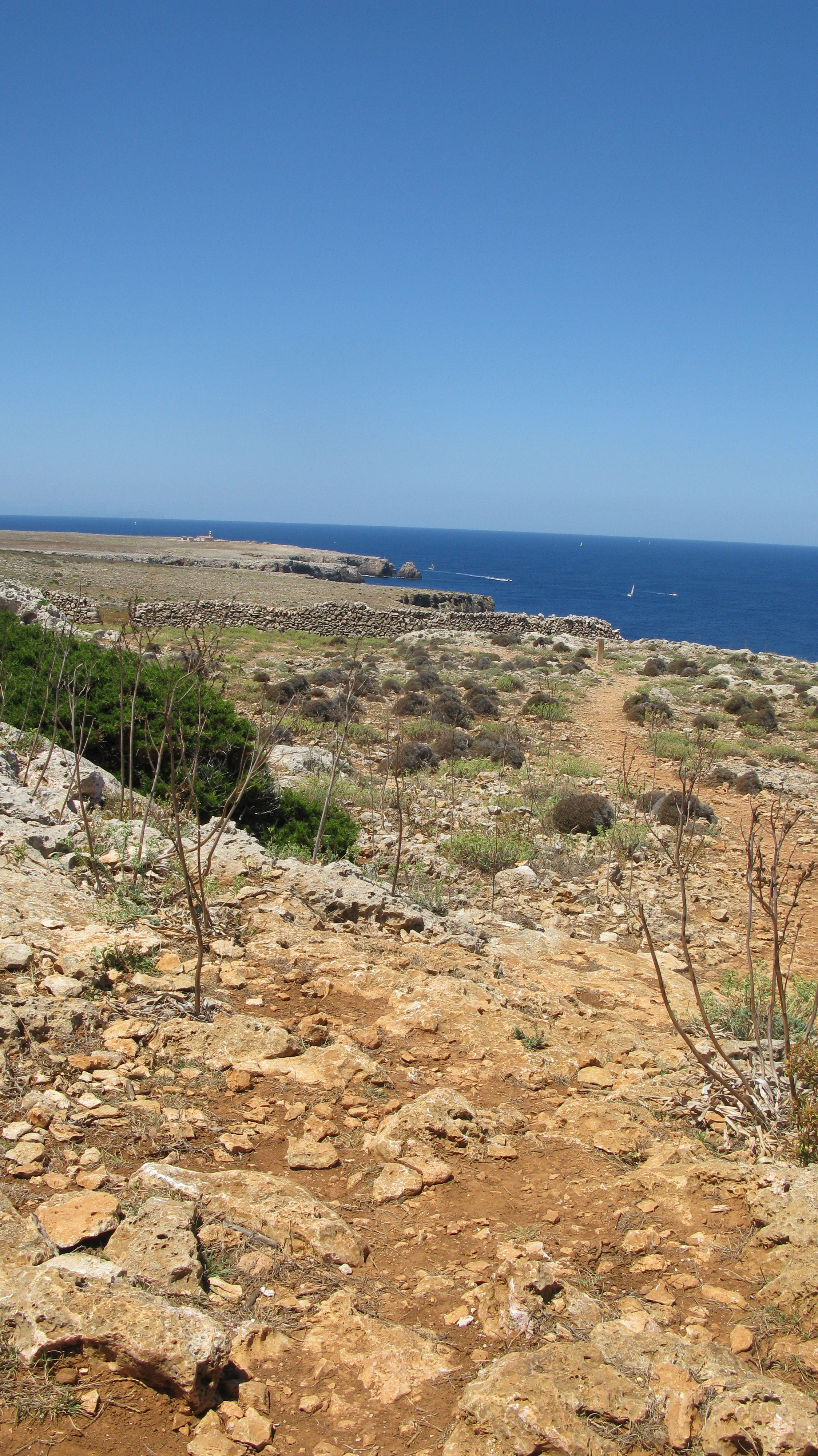 The north west corner of the island is known as 'Dry Menorca' for good reason. There is little rainfall and the trail is hard underfoot