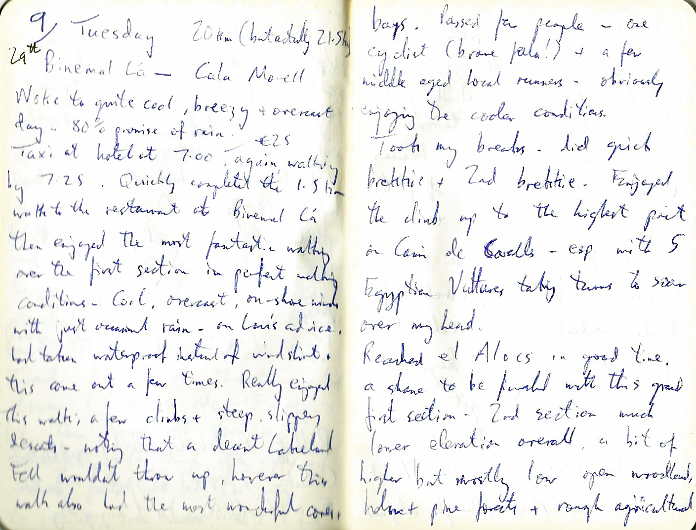 Two pages from my Menorca journal
