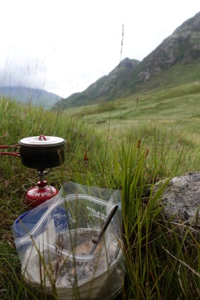 Evening meal on the Cape Wrath Trail, 2018