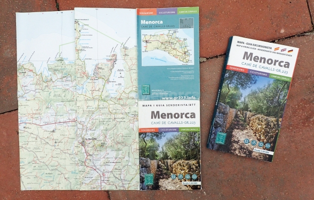 Purchased in Mahon (Maó), Three Points of the Compass found the official guide book and map incredibly useful for planning each day's hike