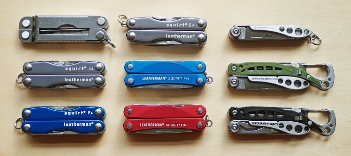 The nine keychain sized multi-tools released by Leatherman