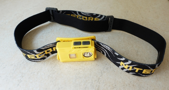 Nitecore NU25 with stock headband