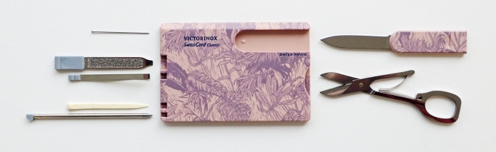 The Victorinox 2019 SwissCard Swiss Spirit comes with a handy set of tools that includes a pen
