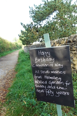 Every now and then there were reminders that the Cleveland Way was celebrating its fiftieth birthday in 2019